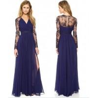 فستان بوليستر ازرق مناسبة خاصة -نساء